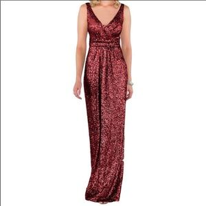 Sorella Vita Sequin Dress Crimson 16